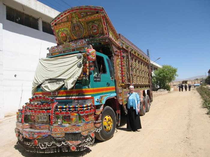 Ceci and truck in Pakistan